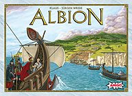 Brettspiele bei AEIOU.DE - Abbildung: Frontcover der Spielbox von Albion
