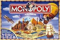Brettspiele bei AEIOU.DE - Abbildung: Frontcover der Spielbox von Monopoly Weltreise