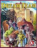 Brettspiele bei AEIOU.DE - Abbildung: Frontcover der Spielbox von Dream Team
