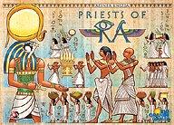 Brettspiele bei AEIOU.DE - Abbildung: Frontcover der Spielbox von Priests of Ra