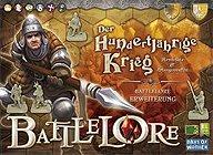 Brettspiele bei AEIOU.DE - Abbildung: Frontcover der Spielbox von BattleLore - Der Hundertjährige Krieg