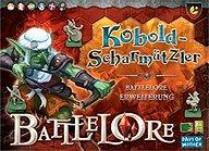 Brettspiele bei AEIOU.DE - Abbildung: Frontcover der Spielbox von Battlelore - Kobold Scharmützler