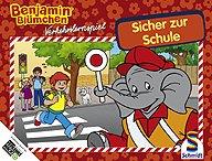 Brettspiele bei AEIOU.DE - Abbildung: Frontcover der Spielbox von Benjamin Blümchen - Sicher zur Schule