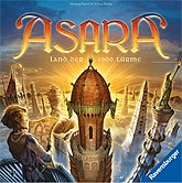 Brettspiele bei AEIOU.DE - Abbildung: Frontcover der Spielbox von Asara