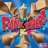 Rezensionen bei AEIOU.DE - Abbildung: Frontcover der Spielbox von Panic Tower!