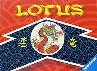 Brettspiele bei AEIOU.DE - Abbildung: Frontcover der Spielbox von Lotus