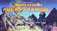 Brettspiele bei AEIOU.DE - Abbildung: Frontcover der Spielbox von Das Geheimnis der Pyramide