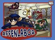 Brettspiele bei AEIOU.DE - Abbildung: Frontcover der Spielbox von Affenlabor