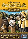 Brettspiele bei AEIOU.DE - Abbildung: Frontcover der Spielbox von Agricola - Mehr Ställe für das liebe Vieh