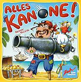 Brettspiele bei AEIOU.DE - Abbildung: Frontcover der Spielbox von Alles Kanone!