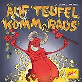 Brettspiele bei AEIOU.DE - Abbildung: Frontcover der Spielbox von Auf Teufel komm raus