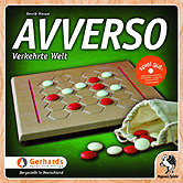 Brettspiele bei AEIOU.DE - Abbildung: Frontcover der Spielbox von Avverso