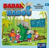 Brettspiele bei AEIOU.DE - Abbildung: Frontcover der Spielbox von Babar und die Abenteuer von Badou