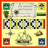 Brettspiele bei AEIOU.DE - Abbildung: Frontcover der Spielbox von Die große Beutejagd - Piraten Edition