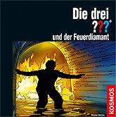 Brettspiele bei AEIOU.DE - Abbildung: Frontcover der Spielbox von Die drei ??? und der Feuerdiamant