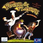 Brettspiele bei AEIOU.DE - Abbildung: Frontcover der Spielbox von Feuer & Flamme