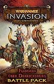 Brettspiele bei AEIOU.DE - Abbildung: Frontcover der Spielbox von Warhammer Invasion - Flammen über Derricksburg