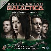 Brettspiele bei AEIOU.DE - Abbildung: Frontcover der Spielbox von Battlestar Galactica - Exodus Erweiterung