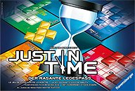 Brettspiele bei AEIOU.DE - Abbildung: Frontcover der Spielbox von Just in Time