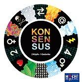 Brettspiele bei AEIOU.DE - Abbildung: Frontcover der Spielbox von Konsensus