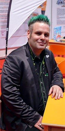 Der Spielautor Friedemann Friese vor einem Interview.