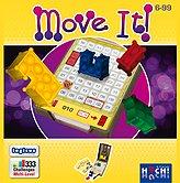 Brettspiele bei AEIOU.DE - Abbildung: Frontcover der Spielbox von Move it!