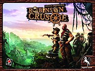 Brettspiele bei AEIOU.DE - Abbildung: Frontcover der Spielbox von Robinson Crusoe