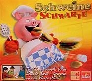Rezensionen bei AEIOU.DE - Abbildung: Frontcover der Spielbox von Schweine Schwarte