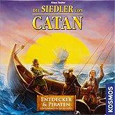 Brettspiele bei AEIOU.DE - Abbildung: Frontcover der Spielbox von Die Siedler von Catan - Entdecker & Piraten