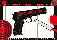 Brettspiele bei AEIOU.DE - Abbildung: Frontcover der Spielbox von Stadt Land Crime