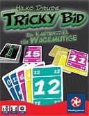 Rezensionen bei AEIOU.DE - Abbildung: Frontcover der Spielbox von Tricky Bid