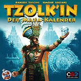 Brettspiele bei AEIOU.DE - Abbildung: Frontcover der Spielbox von Tzolk'in - Der Maya Kalender